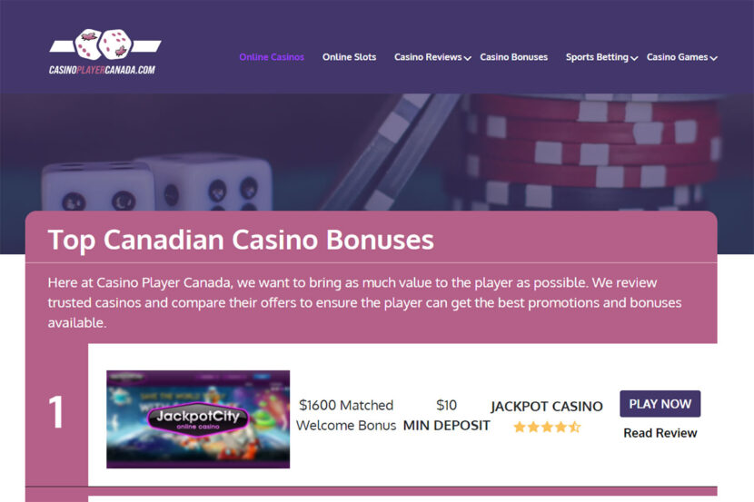 Top things to know for the amazing Jackpot City matched bonus